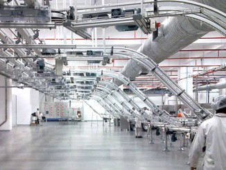Conveyors in automated production flow solutions.