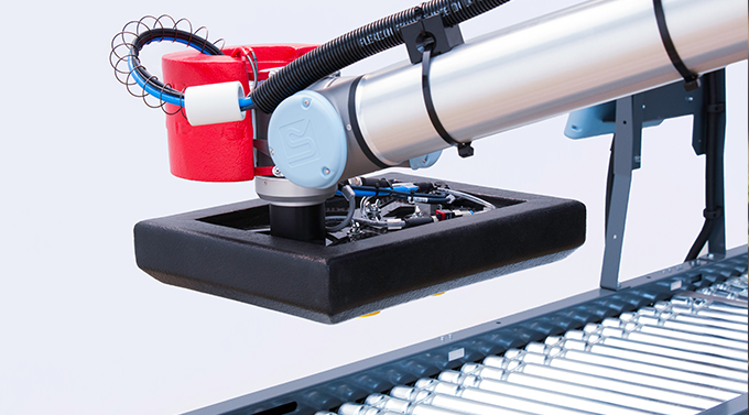 A cobot often operates at low load and speed without safety guarding, unlike many other robots.